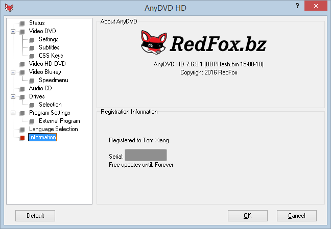 Slysoft AnyDVD 6 buy key