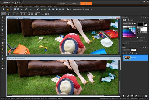 PaintShop Pro X7 - Remoção