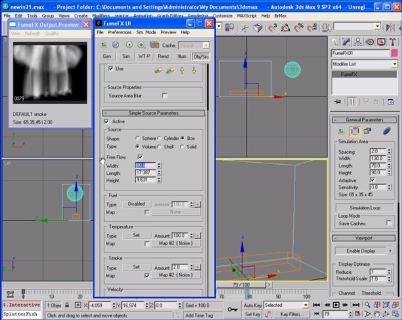 Ground Explosion in 3Ds Max using Fume FX