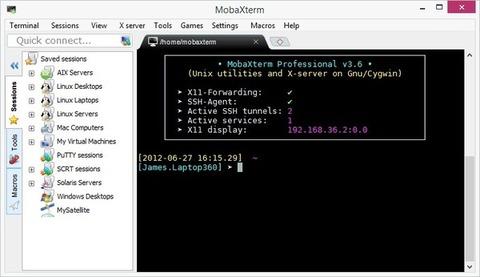 MobaXterm - Tela inicial