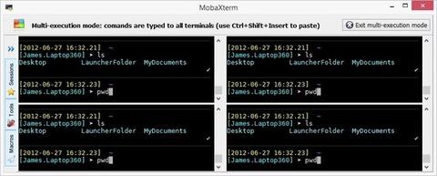MobaXterm - Modo de multi-execução