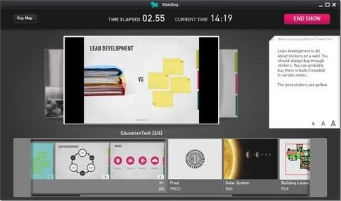 SlideDog - Montagem da apresentação
