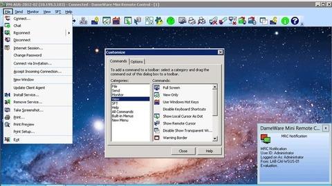 DameWare Mini Remote Control - Personalização