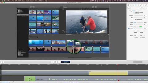 ScreenFlow - Organização de imagem