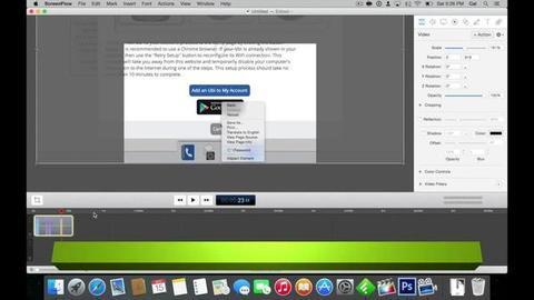 ScreenFlow - Montagem