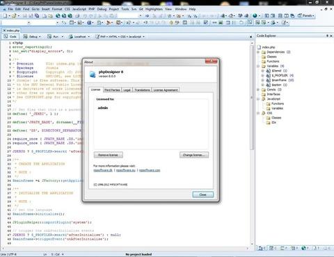 phpDesigner - Informações