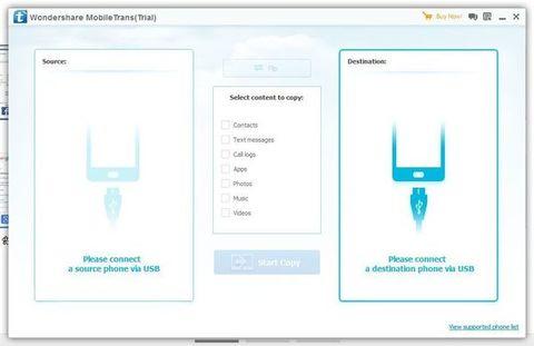 Wondershare MobileTrans - Conexão