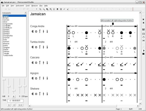 PercussionStudio - Partitura 2