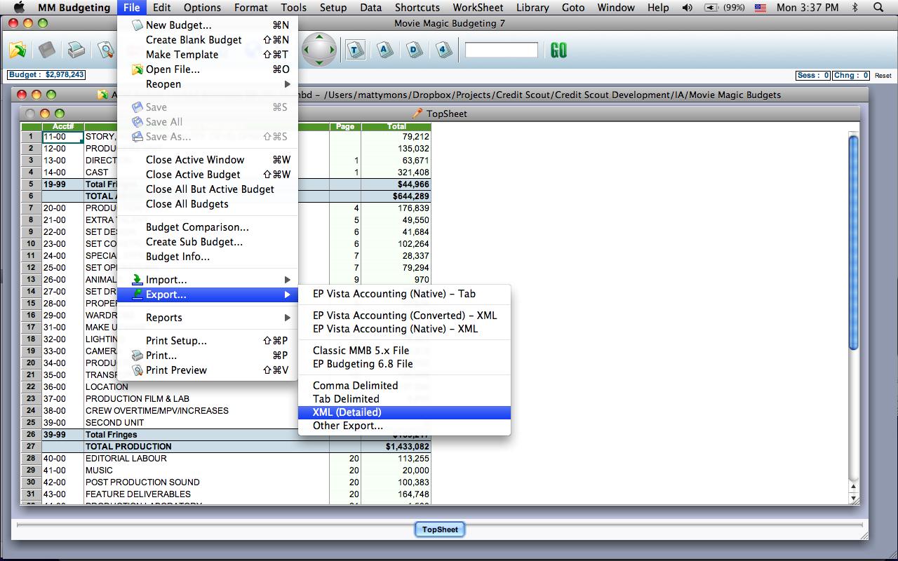 Movie master software